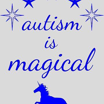 autism is magical - blue by lhabc