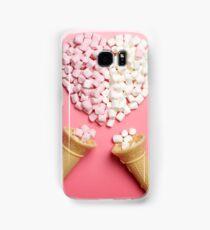 Marshmallows heart and ice-cream cones Samsung Galaxy Case/Skin