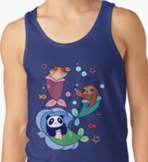 Mermaid Sloth Cat and Panda T-Shirt