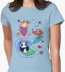 Mermaid Sloth Cat and Panda T-Shirt