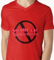 Ban Willful Ignorance (pink) Men's V-Neck T-Shirt