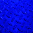 Blue Metal Grate Abstract by schiabor