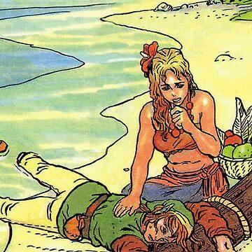 Link & Marin - Link's Awakening by UndaKuva