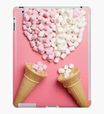 Marshmallows heart and ice-cream cones iPad Case/Skin