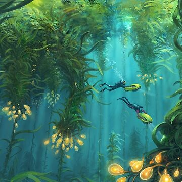 Explorando el bosque Kelp de UnknownWorlds