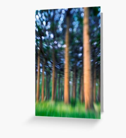~ the blue confetti forest ~ Greeting Card