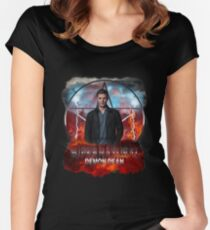 Supernatural Demon Dean  Women's Fitted Scoop T-Shirt