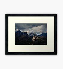 Light peak Framed Print