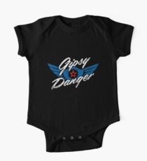 Gipsy Danger Distressed Logo in White Kids Clothes