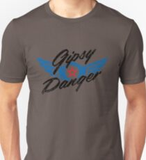 Gipsy Danger Distressed Logo in Black Unisex T-Shirt