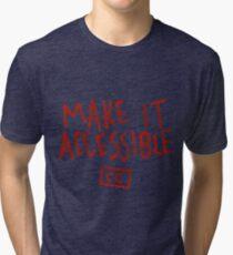 Make It Accessible Captioning Tank Tri-blend T-Shirt
