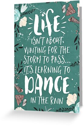 Life Isnt About Waiting For The Storm Canvas