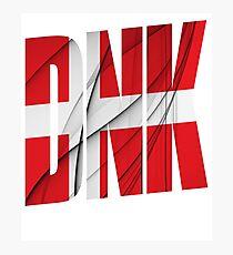 DNK - Danmark Flag Photographic Print