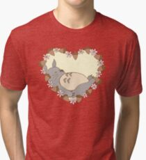 Sleeping Totoro Tri-blend T-Shirt