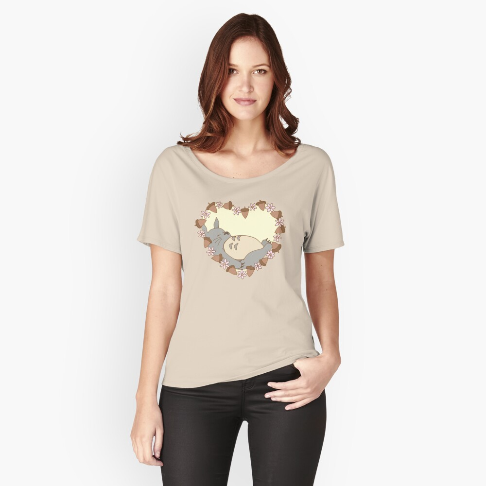 Sleeping Totoro Relaxed Fit T-Shirt
