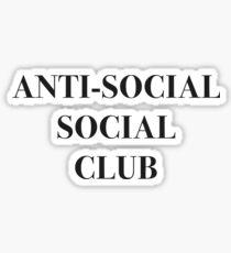 ANTI-SOCIAL SOCIAL CLUB Sticker