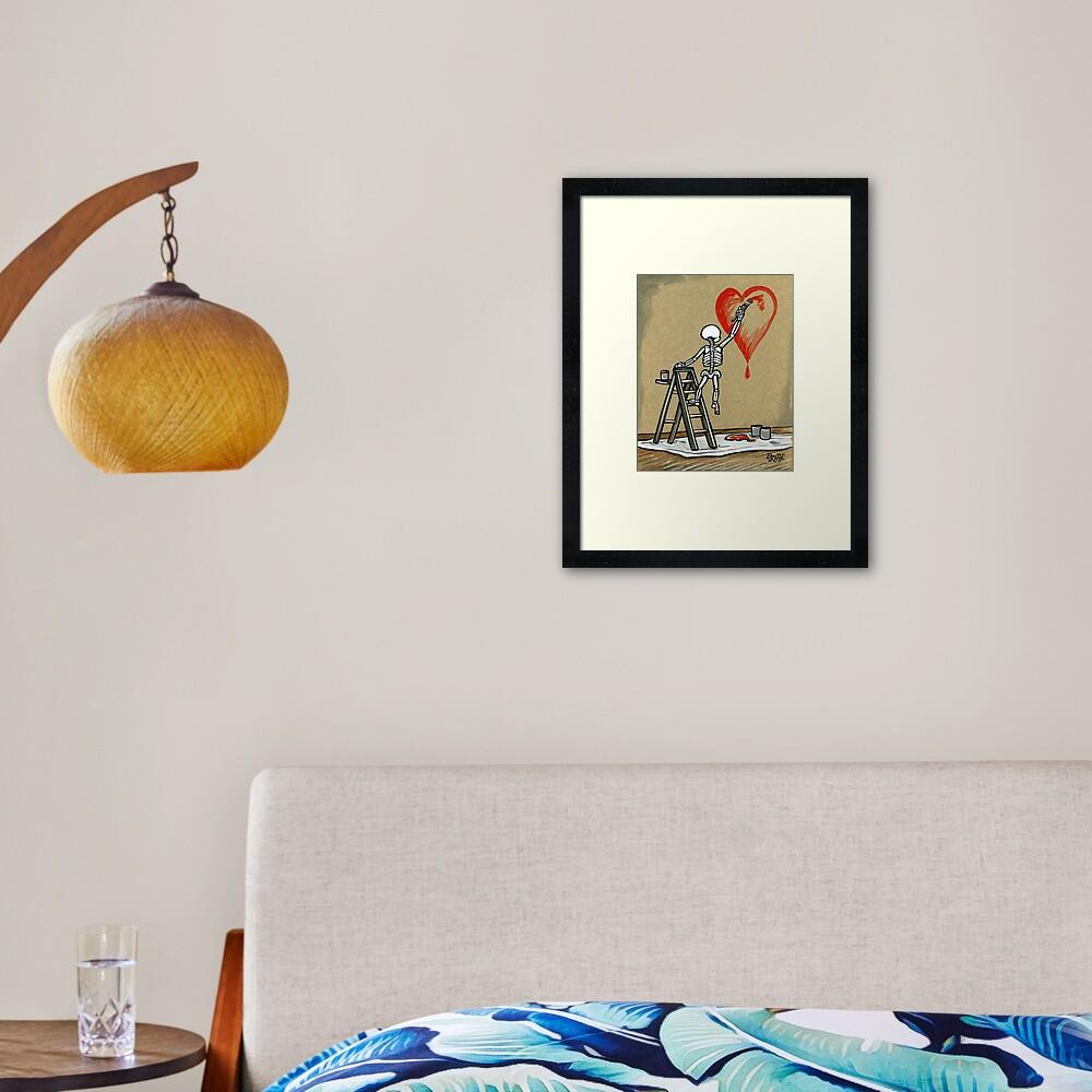 Paint The Love Framed Art Print