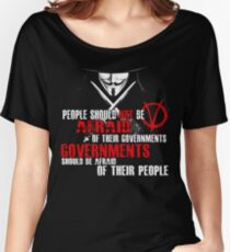V FOR VENDETTA GUY FAWKES CONSPIRACY QUOTE  Women's Relaxed Fit T-Shirt