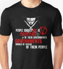 V FOR VENDETTA GUY FAWKES CONSPIRACY QUOTE  Unisex T-Shirt