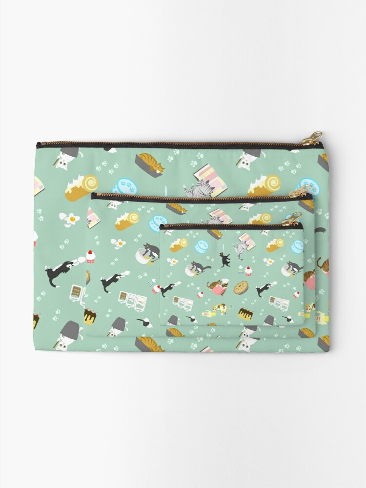 Alternate view of Cats Baking Cakes and other Sweets Zipper Pouch