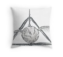 Deathly Hallows Snitch Throw Pillow