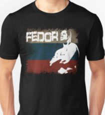 NEW FEDOR EMELIANENKO THE LAST EMPEROR RUSSIAN FLAG  T-Shirt