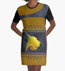 Modern Daffodil T-Shirt Dress Graphic T-Shirt Dress