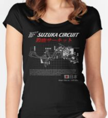JAPAN SUZUKA 8 HOURS CIRCUIT  Women's Fitted Scoop T-Shirt