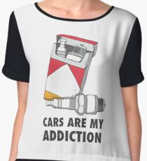 Cars are my addiction Chiffon Top