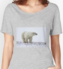 Polar Bear On The Prowl. Churchill, Canada Women's Relaxed Fit T-Shirt