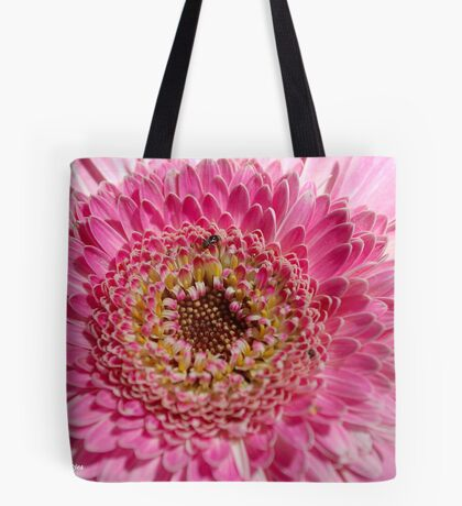 ALL IN PINK, UP CLOSE - GERBERA Tote Bag