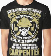 Carpenter - Old School Carpenter Graphic T-Shirt