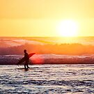 Sunset Paddle Out by Rae Marie Threnoworth