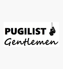 Pugilist Gentlemen Black Logo T-Shirt Photographic Print