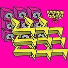 Megabass - Speaker Stack Logo! by Kris Keogh