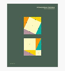 PYTHAGOREAN THEOREM: Proof by rearrangement Photographic Print