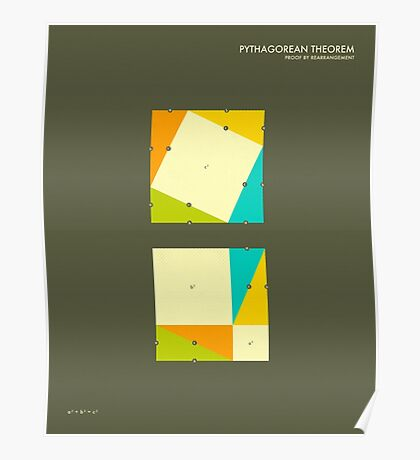 Pythagorean Theorem: Proof by Rearrangement Poster