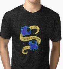 Mad Man With A Box Gallifreyan Tri-blend T-Shirt