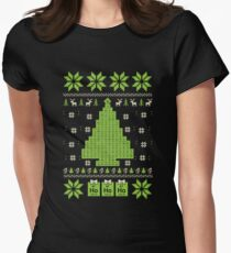 Chemistry - Tree Ugly Christmas Womens Fitted T-Shirt