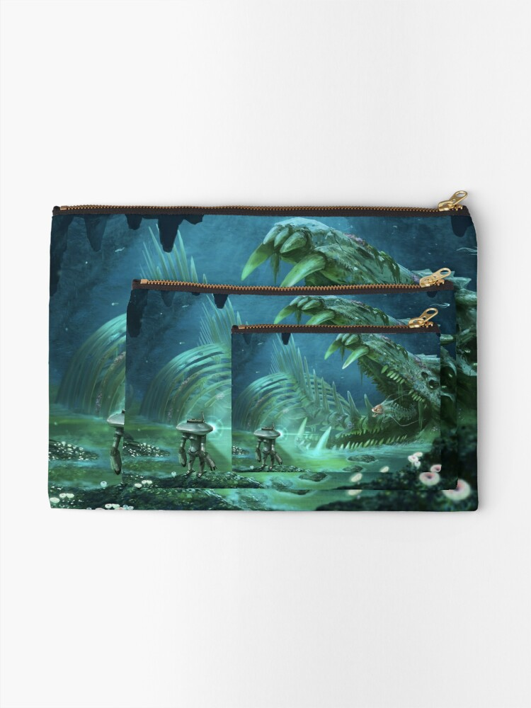 Alternate view of Exploring the Lost River Zipper Pouch