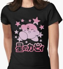Kirby Nintendo Womens Fitted T-Shirt