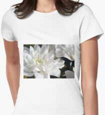 White flowers macro, natural background. T-Shirt