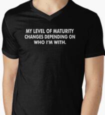 Level Maturity Men's V-Neck T-Shirt