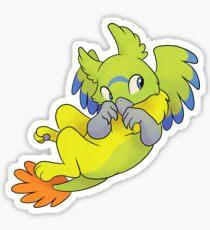 Orange-bellied Parrot Griffon  Sticker