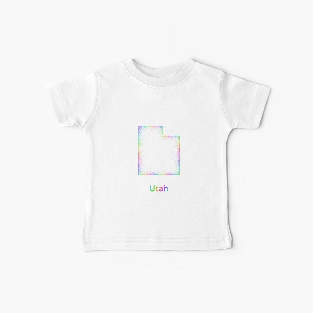 Regenbogen Utah Karte Baby T-Shirt