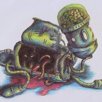 Critter Robot Vandalism by ZebraArmada