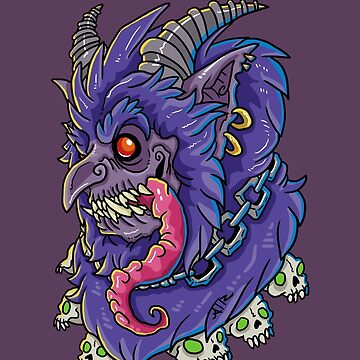 Violet Krampus by blackvultureink