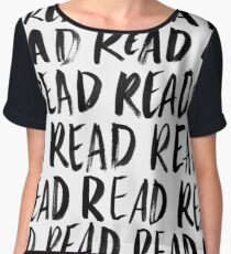 Read, Read, Read (White) Women's Chiffon Top