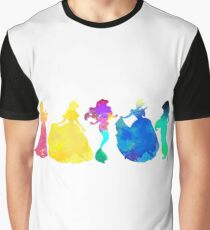 Princesses Inspired Silhouette Graphic T-Shirt