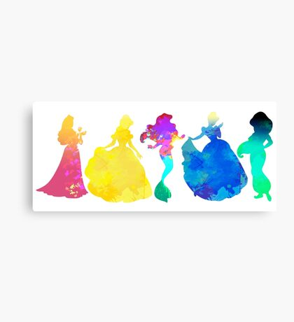 Princesses Inspired Silhouette Canvas Print